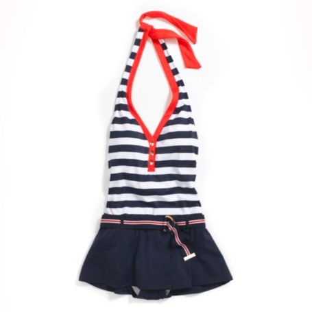 Image for SNAP FRONT HALTER SWIM DRESS from Tommy Hilfiger USA