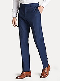 타미 힐피거 바지 Tommy Hilfiger Regular Fit Suit Pant In Blue Plaid,BLUE PLAID