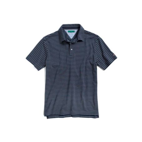 CUSTOM FIT PIQUE STRIPE POLO