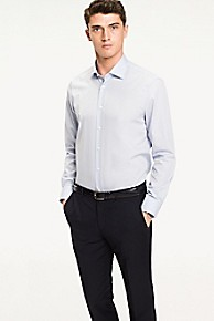 타미 힐피거 드레스 셔츠 Tommy Hilfiger Crisp Poplin Regular Fit Dress Shirt,WHITE