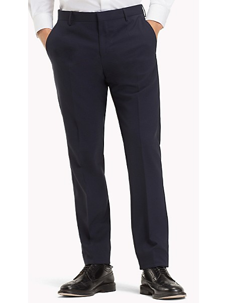 타미 힐피거 정장 바지 TOMMY HILFIGER TAILORED Virgin Wool Fitted Trousers
