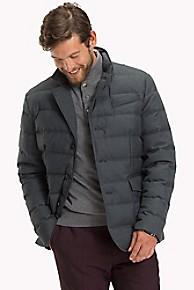 타미 힐피거 울 다운 파카 Tommy Hilfiger Wool Flannel Down Jacket,BLACK