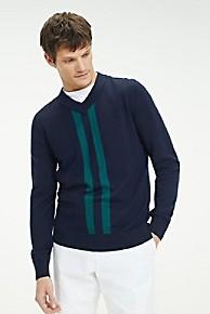 타미 힐피거 Tommy Hilfiger Wool And Cotton V-Neck Sweater,SKY CAPTAIN