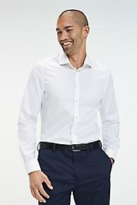 타미 힐피거 칼라 드레스 셔츠 Tommy Hilfiger TH Flex Collar Slim Fit Dress Shirt