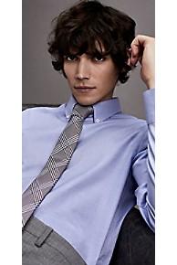 타미 힐피거 드레스 셔츠 Tommy Hilfiger Cotton Poplin Slim Fit Dress Shirt,LIMOGES/BRIGHT WHITE