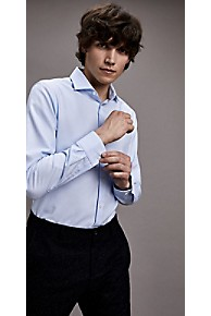 타미 힐피거 드레스 셔츠 Tommy Hilfiger Textured Dobby Microprint Slim Fit Dress Shirt,KENTUCKY BLUE/BRIGHT WHITE