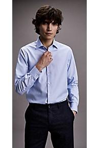 타미 힐피거 드레스 셔츠 Tommy Hilfiger Textured Dobby Microprint Regular Fit Dress Shirt,BLUEBELL/BRIGHT WHITE