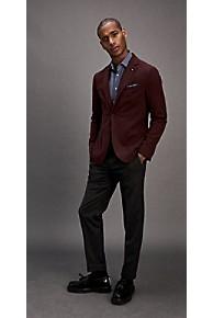 타미 힐피거 정장 자켓 Tommy Hilfiger Slim Fit Stretch Cotton Blazer,BURGUNDY