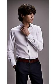 타미 힐피거 드레스 셔츠 Tommy Hilfiger Textured Dobby Slim Fit Dress Shirt,BRIGHT WHITE
