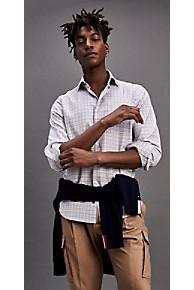 타미 힐피거 드레스 셔츠 Tommy Hilfiger Regular Fit Cotton Twill Dress Shirt,CARAFE/MEDIEVALBLUE