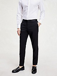 타미 힐피거 바지 Tommy Hilfiger Slim Fit Tuxedo Pant,GALAXY BLACK
