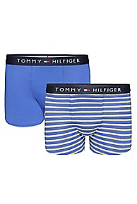 타미 힐피거 보이즈 트렁크 팬티 2개 세트 Tommy Hilfiger TH Kids Trunk 2Pk,WARM OLIVE/DAZZLING BLUE