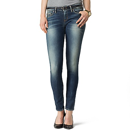 Tommy Hilfiger Mid Rise Faded Skinny Jeans - Baez Tommy Hilfiger Women's Jean. No Ordinary Skinny Jeans, Ours Feature Strategic Fading And Sandblasting For That Been-Through-The-Ringer Look. Styled With A Hint Of Stretch And A Slightly Higher Waist So They Feel As Good As They Look. • Skinny Fit, Mid-Rise Waist, Skinny From Hip To Hem.• 92% Cotton, 6% Synthetic, 2% Elastane.• 5 Pocket Styling.• Hand Wash.• Imported.