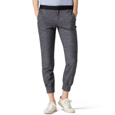 Tommy Hilfiger Melange Knit Jogger - Night Sky Heather