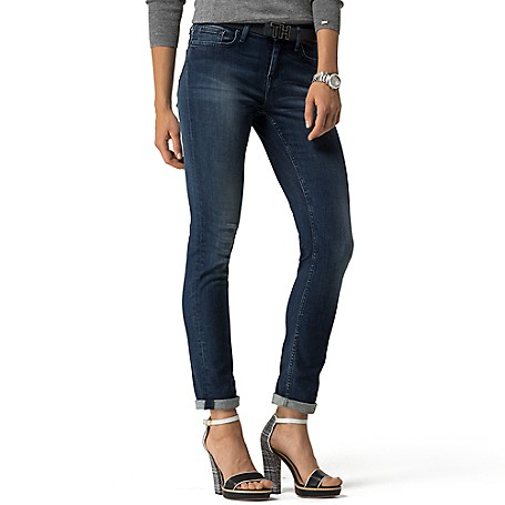 Tommy Hilfiger Deep Wash Straight Jeans - Medium Wash Tommy Hilfiger Women's Jean. A Denim Classic, Our Straight Jean Has Been Overdyed In Indigo To Achieve That Ideal Inky Hue. They Fit Like A Glove Too, Thanks To The Extra Stretch That Moves When You Do.• Sits Below The Waist, Fitted Through The Hip And Thigh With A Straight Leg.• 93% Cotton, 5% Synthetic, 2% Elastane. • 5-Pocket Styling.• Machine Washable.• Imported.