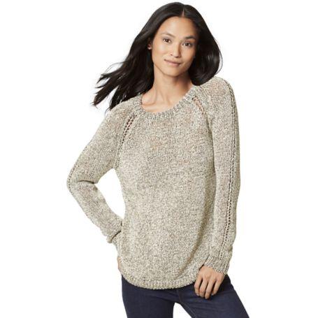 Tommy Hilfiger Final Sale- Drapey Crewneck Sweater - New Khaki - Xs
