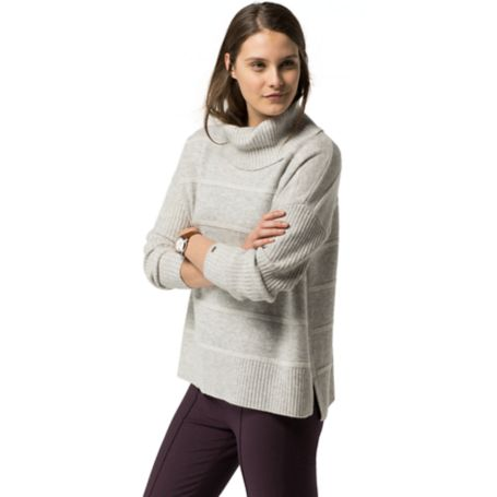 Tommy Hilfiger Heathered Wool Sweater - Light Grey Heather / Snow White - S