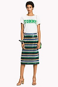 타미 힐피거 Tommy Hilfiger Sequin Stripe Skirt,SEQUIN STRIPE/ JELLY BEAN