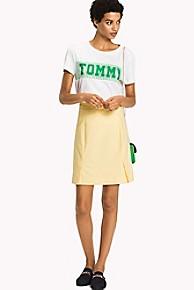 타미 힐피거 Tommy Hilfiger Textured Skirt,SUNSHINE