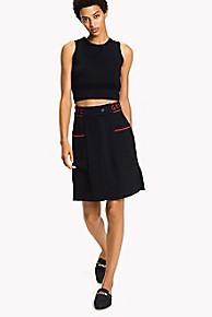 타미 힐피거 Tommy Hilfiger A-Line Skirt,MIDNIGHT