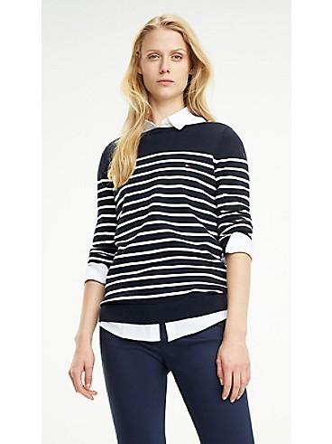 타미 힐피거 스트라이프 스웨터 Tommy Hilfiger Maritime Stripe Sweater,MIDNIGHT / SNOW WHITE