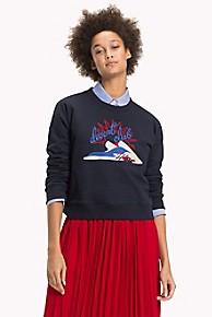 타미 힐피거 Tommy Hilfiger Embroidered Sweatshirt,MIDNIGHT