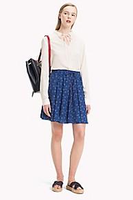 타미 힐피거 Tommy Hilfiger Floral Skirt,DITSY FLORAL / NAVY PEONY