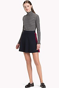 타미 힐피거 Tommy Hilfiger A-Line Sweater Skirt,MIDNIGHT