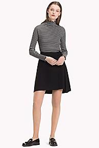 타미 힐피거 Tommy Hilfiger Classic Wrap Skirt,BLACK BEAUTY