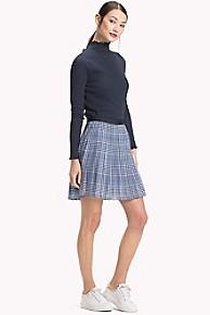 타미 힐피거 Tommy Hilfiger Pleated Skirt,PRINCE OF WALES POP