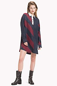 타미 힐피거 Tommy Hilfiger Tommy Icons Rugby Stripe Dress,ICON DIAGONAL STRIPE