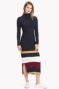 타미 힐피거 Tommy Hilfiger Tommy Icons Stripe Dress,MIDNIGHT STRIPE