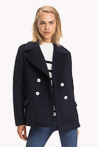 타미 힐피거 우먼 반 피코트 Tommy Hilfiger Short Peacoat,MIDNIGHT