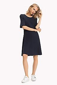타미 힐피거 Tommy Hilfiger Ribbed Short-Sleeve Dress
