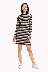 타미 힐피거 Tommy Hilfiger Reversible Knit Dress,BLACK BEAUTY/ STRIPE