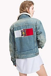 타미 힐피거 Tommy Hilfiger Tommy Icons Denim Jacket,MEDIUM INDIGO