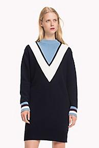타미 힐피거 Tommy Hilfiger Modern Cricket Sweater Dress,SKY CAPTAIN/ DUSK BLUE