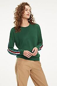 타미 힐피거 Tommy Hilfiger Stripe Sleeve Sweater