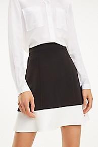 타미 힐피거 우먼 컬러블록 스커트 Tommy Hilfiger Colorblock Skirt,BLACK BEAUTY