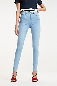 타미 힐피거 Tommy Hilfiger Ultra High Rise Skinny Fit Jean,LIGHT BLUE
