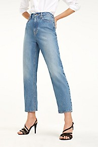 타미 힐피거 Tommy Hilfiger Essential High Waist Jean,LIGHT BLUE