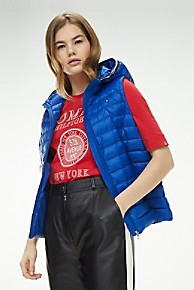 타미 힐피거 후드 조끼 Tommy Hilfiger Packable Down Hooded Puffer Vest