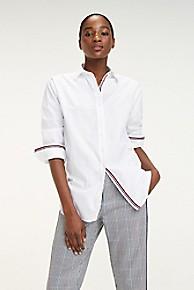 타미 힐피거 Tommy Hilfiger Essential Boyfriend Shirt,CLASSIC WHITE
