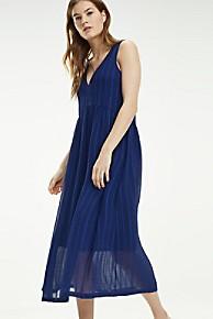타미 힐피거 우먼 민소매 미디 원피스 Tommy Hilfiger Sleeveless Midi Dress