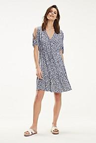 타미 힐피거 우먼 브이넥 원피스 Tommy Hilfiger V-Neck Print Dress
