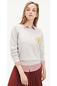 타미 힐피거 Tommy Hilfiger Raglan Sleeve Monogram Sweatshirt