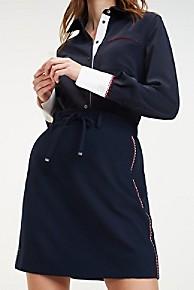 타미 힐피거 우먼 지그재그 스티치 스커트 Tommy Hilfiger Zigzag Stitch Skirt,SKY CAPTAIN
