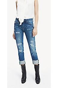 타미 힐피거 Tommy Hilfiger Skinny Fit Organic Cotton Jean,MEDIUM BLUE