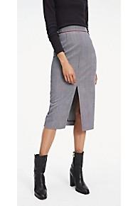 타미 힐피거 Tommy Hilfiger Pencil Midi Skirt,PRINCE OF WALES