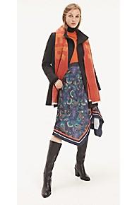 타미 힐피거 Tommy Hilfiger Paisley Wrap Skirt,PAISLEY BORDER